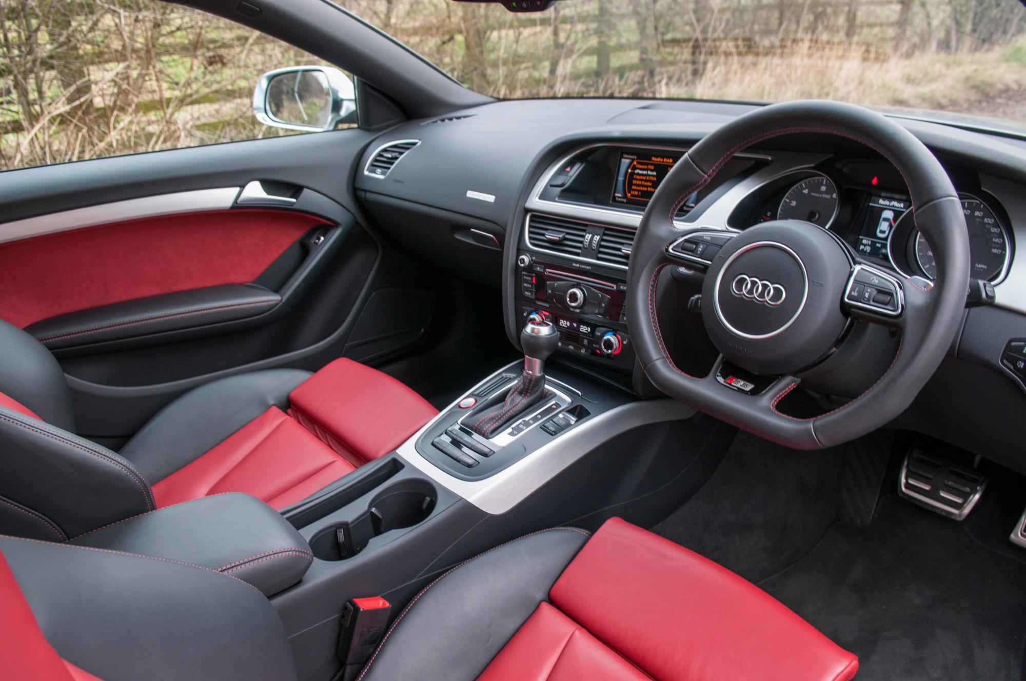 audi s5 v8 interior shot red leather yorkshire photography automotive