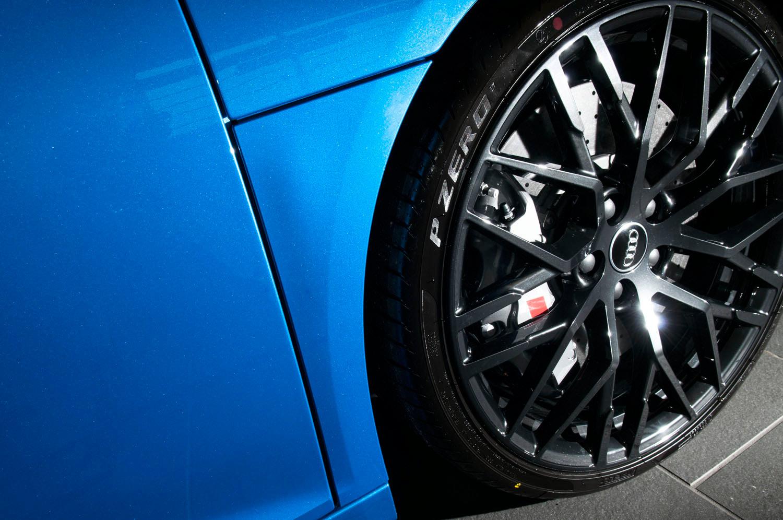 audi r8 v10 plus lighting studio shot ara blue yorkshire photography automotive